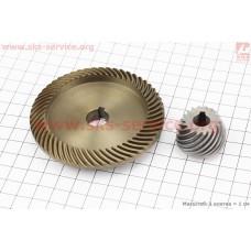 Шестерня метал (D1=82,6мм, d1=14мм, H1=16,6мм, Z1=55 и D2=30мм, d2=10мм, H2=22мм, Z2=18) к-кт 2шт