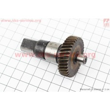 Шестерня метал (D=40мм, d=12мм, H=10мм, Z=36) + вал L=70мм к-кт 2шт Rebir 5107