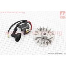 Ротор магнето 1E32F + катушка зажигания к-кт